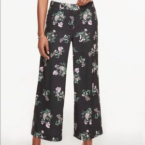 Ann Taylor Drapey floral pants NWT new crop wide